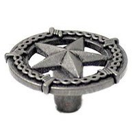 Wild Western Hardware - Antique Pewter - Ornamental Star Knob in Antique Pewter