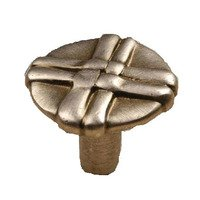 "Laurey Hardware - Lineage - 1 3/8"" Knob in Antique Copper"