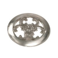 "Laurey Hardware - Classic Traditions - 1 1/2"" Filigree Knob in Antique Brass"