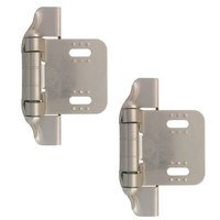 Liberty Hardware - Cabinet Accessories - 1/4 Semi-Wrap Overlay Hinge, 2 per pkg in Satin Nickel