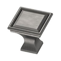 "Liberty Hardware - External Mount Campagne - 1 1/4"" Square Vista Knob in Heirloom Silver"