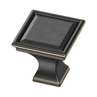 "Liberty Hardware - External Mount Campagne - 1 1/4"" Square Vista Knob in Bronze With Gold Highlights"
