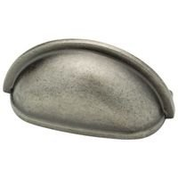 Liberty Hardware - Avante - Pewter - 3 Plain Cup Pull in Tumbled Pewter