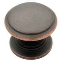 "Liberty Hardware - Avante - Oil Rubbed Bronze - 1 1/4"" Knob in Bronze With Copper Highlights"