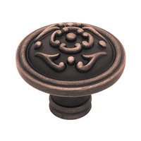 Liberty Hardware - French Lace II - 38mm Diameter Knob in Bronze With Copper Highlights