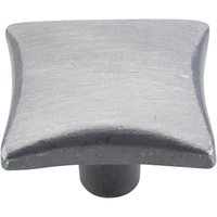 "Top Knobs - Chateau - Square Knob 1 3/8"" in Pewter Light"