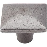 Top Knobs - Chateau - Square Iron Knob Smooth in Cast Iron