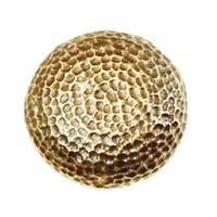 Modern Objects - Bark & Leaves - Hammered Knob in Antique Brass