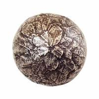 Modern Objects - Bark & Leaves - Leaves Ball Knob in Antique Brass