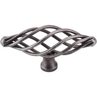 Top Knobs - Normandy - Medium Oval Twist Knob in Pewter