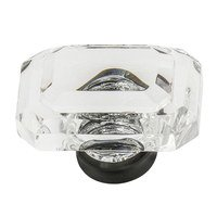 "Nostalgic Warehouse - Enfield - 1 3/4"" Baguette Cut Crystal Cabinet Knob in Polished Brass"