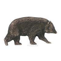 Novelty Hardware - Wildlife - Bear Cub Knob (Facing Right) in Antique Brass