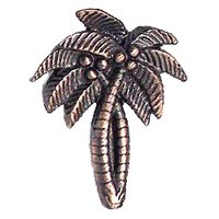 Novelty Hardware - Tropical - Palm Tree Knob in Antique Brass