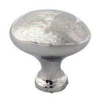 "Omnia Industries - Classic & Modern - 1 3/16"" Football Knob in Polished Chrome"