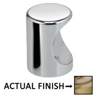 "Omnia Industries - Ultima II - 3/4"" Thumbprint Knob in Polished Brass Lacquered"