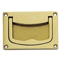 "Richelieu Hardware - Eclectic Expression IV - 3"" Long Recessed Rectangle Pull (Front Mount) with Handle in Brass"