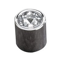 "Richelieu Hardware - Contemporary Inspiration VIII - 3/4"" Diameter Knob in Chrome with Crystal Insert"