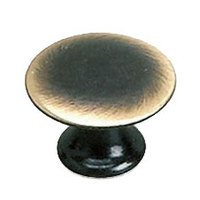 "Richelieu Hardware - Styles Inspiration XXVI - Solid Brass 3/4"" Diameter Flat Knob in Satin Bronze"