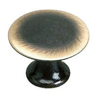 "Richelieu Hardware - Styles Inspiration XXVI - Solid Brass 1"" Diameter Flat Knob in Satin Bronze"