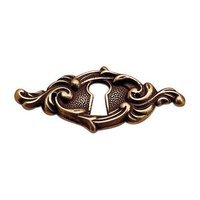 "Richelieu Hardware - Styles Inspiration XXV - 2 13/32"" Long Elegantly Designed Escutcheon in Opaque Bronze"