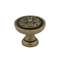 "Richelieu Hardware - Styles Inspiration XVII - 1"" Diameter Knob Celtic Floral in Antique English"
