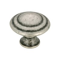 "Richelieu Hardware - Styles Inspiration XXIV - 1 1/8"" Diameter Circles Knob in Old Silver"