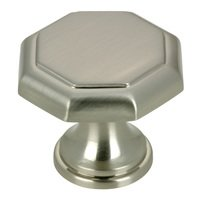 "Richelieu Hardware - Village Expression III - 1 1/8"" Diameter Octagonal Knob in Brushed Nickel"