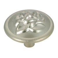 "Richelieu Hardware - Country Style Expression XI - 1 1/4"" Diameter Rose Embossed Knob in Matte Nickel"