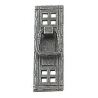 "Richelieu Hardware - Country Style Expression VII - 4 1/4"" Centers Craftsman Style Pendant Pull with Backplate in Natural Iron"