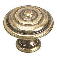 "Richelieu Hardware - Traditional Inspirations - 1 3/8"" Round Traditional Brass Knob in Burnished Brass"