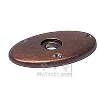 RK International - Distressed Copper - Distressed Oval Backplate in Distressed Copper