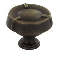 "RK International - Fullerton Design - 1 1/2"" Diameter Knob in Brushed English"