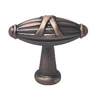 RK International - Distressed Copper - Small Crossed Indian Drum Knob in Distressed Copper
