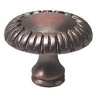 RK International - Distressed Copper - Large Petals at Edge Knob in Distressed Copper