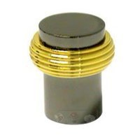 RK International - Two Tone - Solid Swirl Rod Knob in Black Nickel and Brass