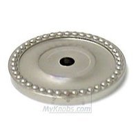 RK International - Satin Nickel - Beaded Single Hole Backplate in Satin Nickel