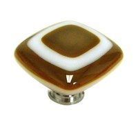 Sietto Glass Hardware - Luster - Umber Knob with Oil Rubbed Bronze base