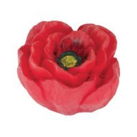Siro Designs - Flowers - Red and Yellow Poppy Knob
