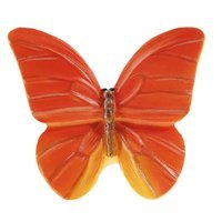 Siro Designs - Butterfly - Red Orange with Yellow Butterfly Knob