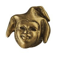 Siro Designs - Venice - Jester Mask Knob in Antique Brass