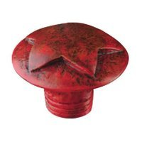 Siro Designs - Fantasia - Star Knob in Antique Red