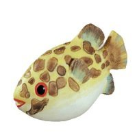 Siro Designs - Caribe - Yellow & Brown Speckle Fish Knob