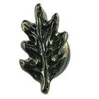 Sierra Lifestyles - Woodlands Design - Oak Leaf Knob in Bronzed Black
