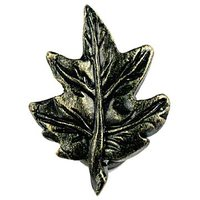 Sierra Lifestyles - Woodlands Design - Maple Leaf Knob in Bronzed Black