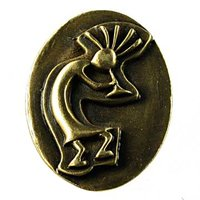 Sierra Lifestyles - Western Design - Kokopelli Knob in Antique Brass