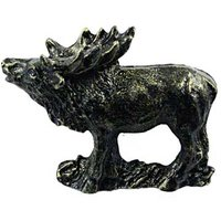 Sierra Lifestyles - Wildlife Design - Standing Elk Pull in Bronzed Black