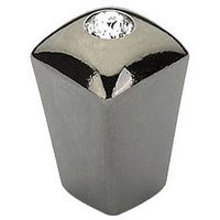 "Schaub and Company - SkyeVale - 1/2"" Knob in Black Chrome with Crystal"