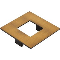 "Schaub and Company - Finestrino - 2 1/2"" Centers Square Pull in Burnished Bronze"