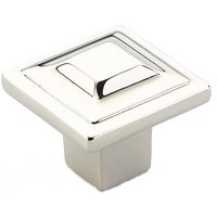 "Schaub and Company - Menlo Park - 1 1/4"" Square Knob in Polished Nickel"