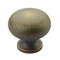 "Schaub and Company - Traditional - 1 1/4"" Knob in Antique Light Brass"